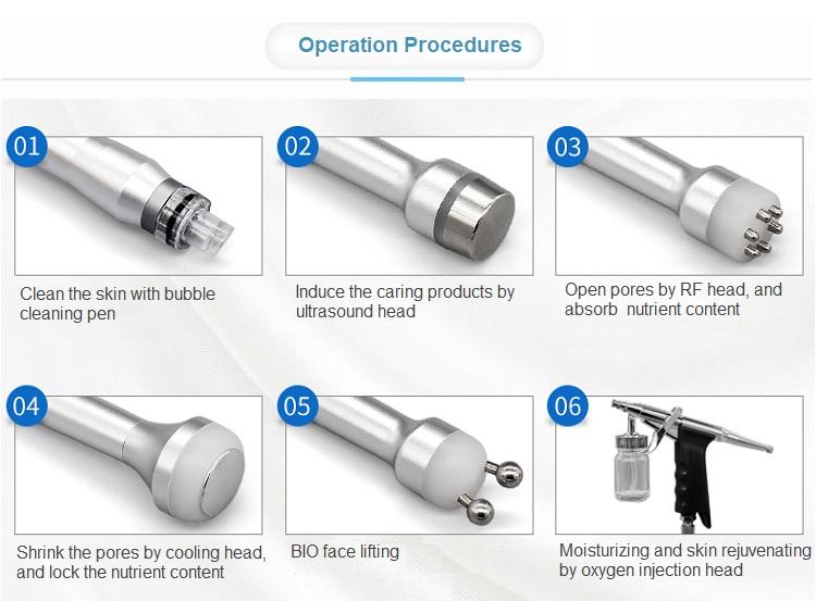 ProFacial Aqua Facial Machine Oxygen Jet Peel Machine Treatment Steps